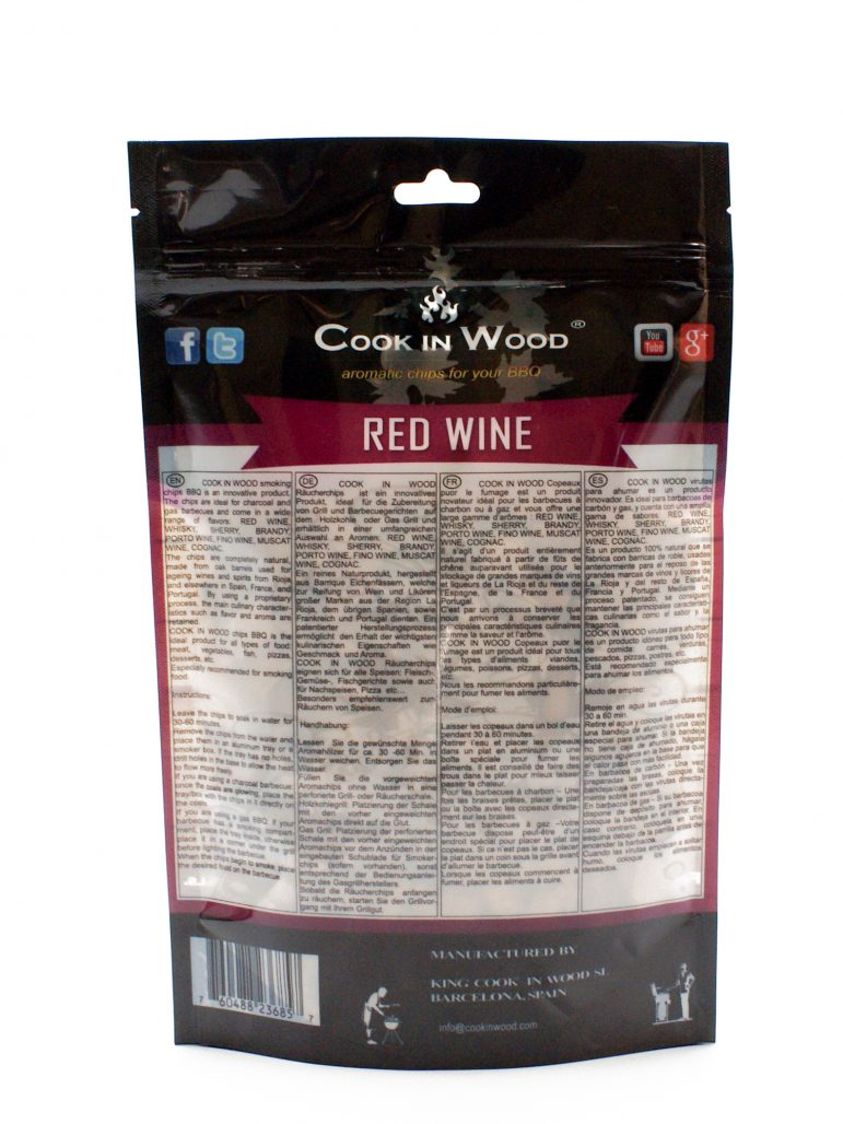 Image Smoking Chips Red Wine Back